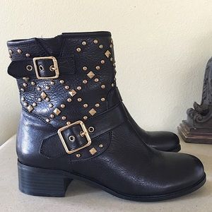 INC INTERNATIONAL CONCEPT MOTO ANKLE BOOTS